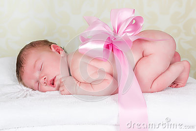 Newborn baby as a gift