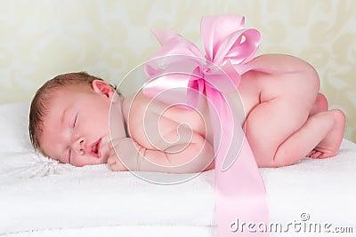 Newborn baby as a gift