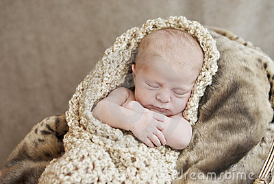 Newborn Baby In A Blanket