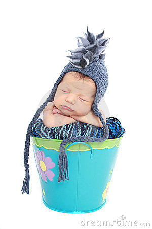 Newborn Baby in Hat