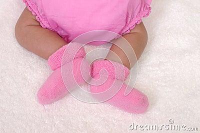 Newborn baby legs