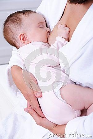 Free Newborn Baby Sucking Mother S Milk Stock Image - 14510111