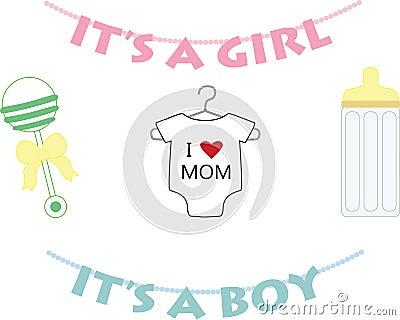 Newborn baby symbols