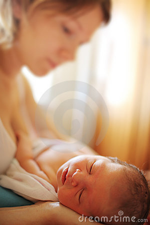 Free Newborn Baby With Mother Stock Photos - 15834543