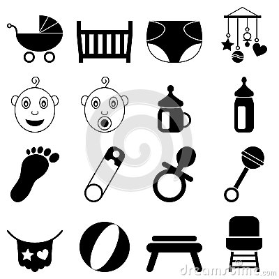 Newborn Black and White Icons