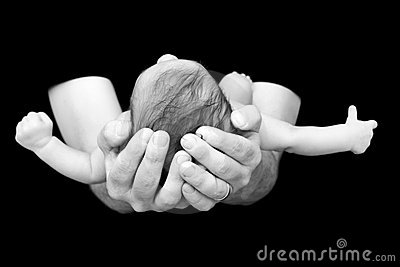 Newborn in Dad s Hands