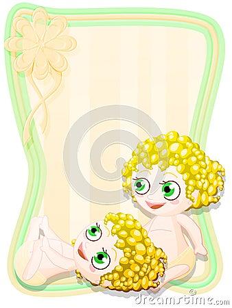 Newborn female twins