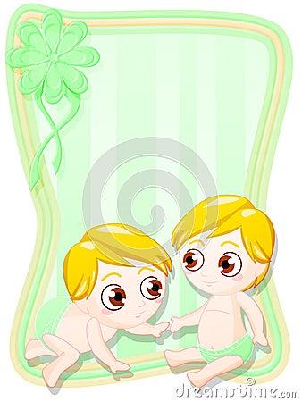Newborn male twins