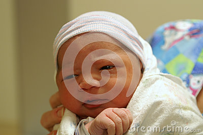 Newborn seeing the world