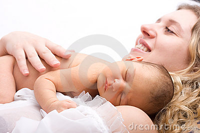Newborn sleeping child