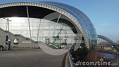 Newcastle nach Tyne, England, Vereinigtes K?nigreich Sage Gateshead, ein Konzertort stock footage