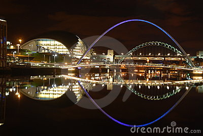 Newcastle quayside night view