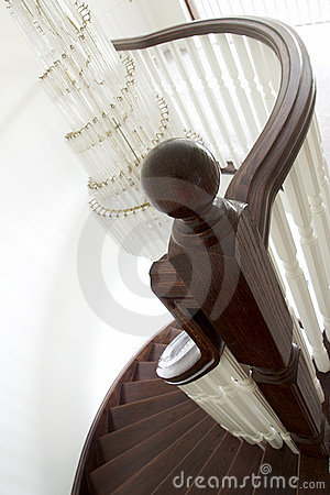 Free Newel Post And Spiral Staircase Stock Images - 15489284