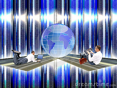 The newest computer the technology Internet