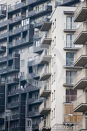 Newly built block of flats