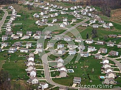 Newly Built Eastern US Suburbia Aerial