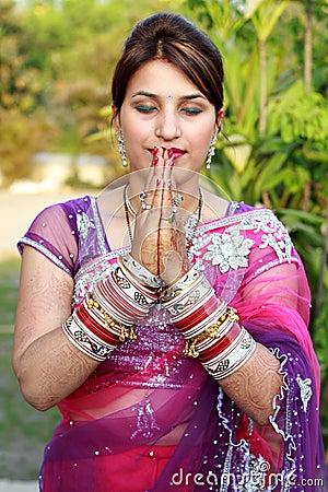 Newly wedded girl