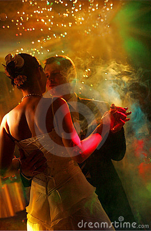 Free Newlywed Couple Dancing Royalty Free Stock Image - 9545046