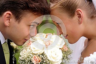 Newlywed look of love