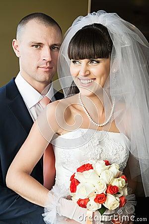 Newlyweds indoors