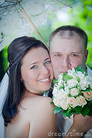 Newlyweds portrait