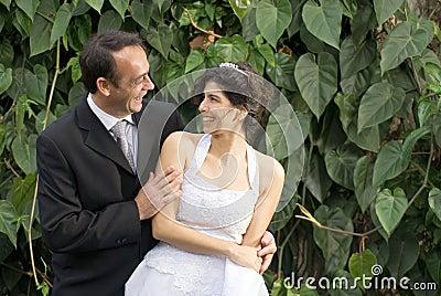 Newlyweds Stare - horizontal
