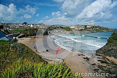 Newquay beach, Cornwall, England