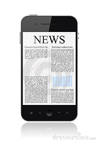 News On Apple Iphone Mobile Smart Phone Isolated