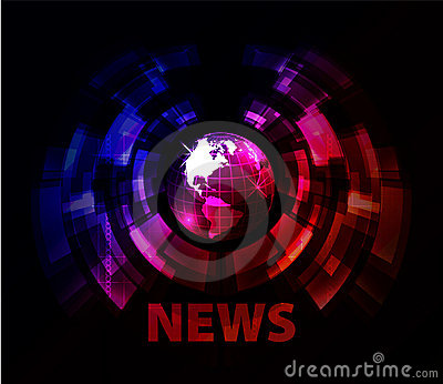 News background with globe