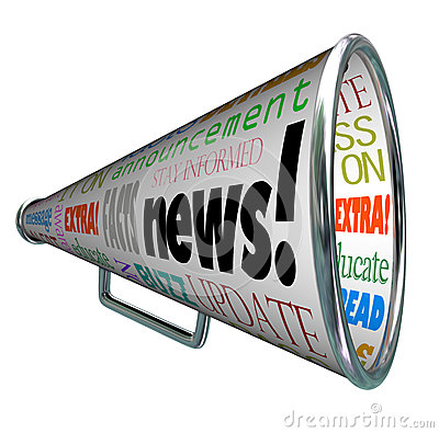 Free News Bullhorn Megaphone Important Alert Announcement Stock Photo - 29539370