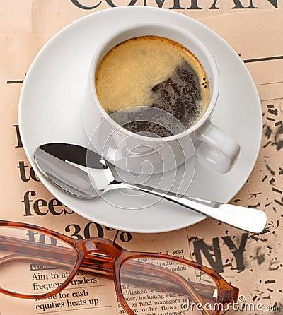 News and coffeecup