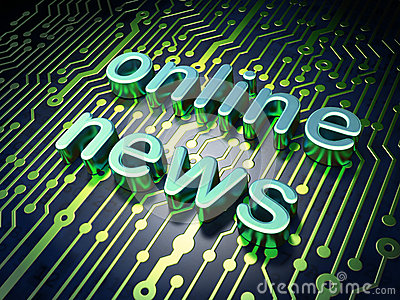 News concept: circuit board with word Online News