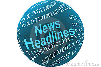News headlines button