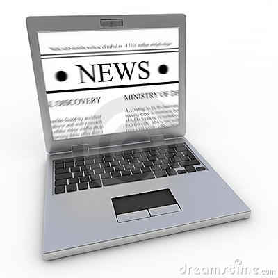 News on laptop
