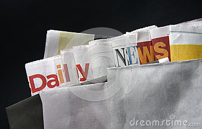 Daily news on newspapers