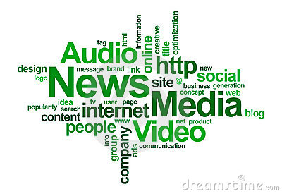 News and media – word cloud