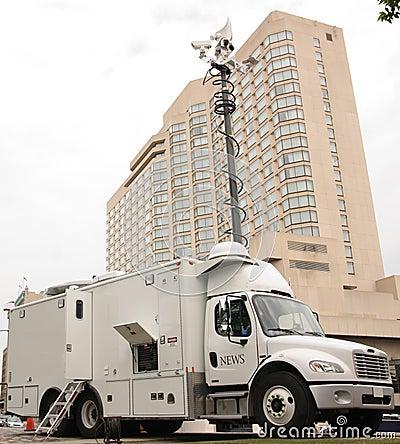 News Media Truck