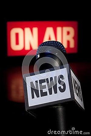 News Microphone On-Air Vertical