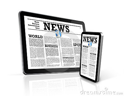 News on mobile phone and digital tablet pc