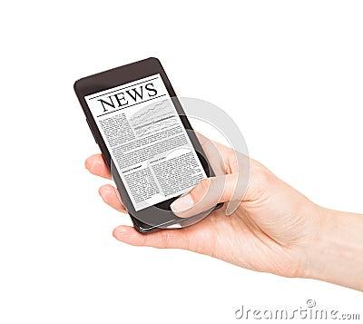 News on mobile phone, smart phone.