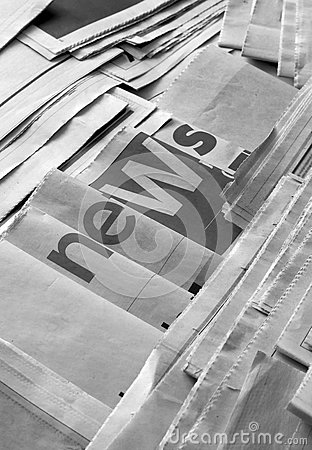 Free News On Newspaper Royalty Free Stock Image - 91570136