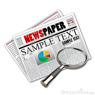 News paper with lens