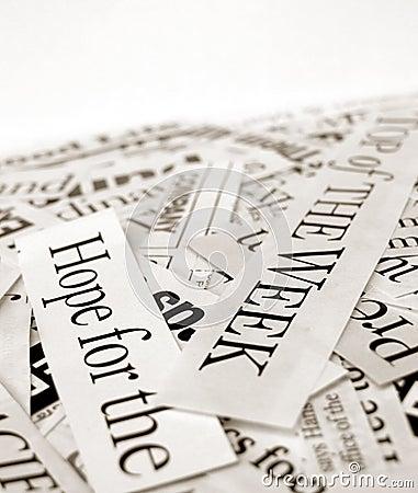 News paper text