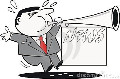 News publicity cartoon