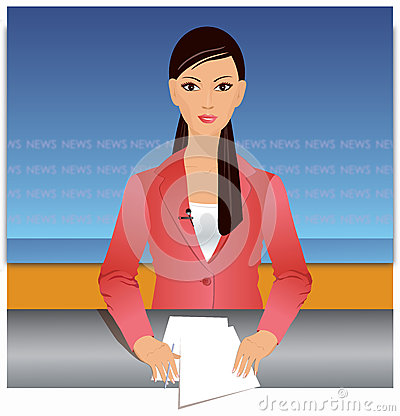 News reporter illustration