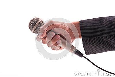 News Reporters Hand
