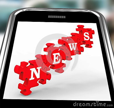News On Smartphone Showing Online Journalism