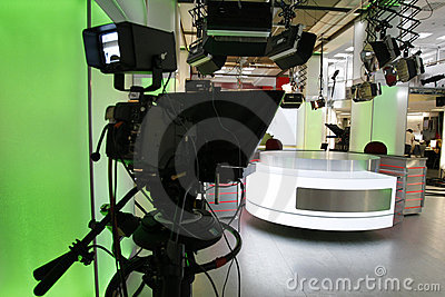 News Studio Stock Photo - Image: 18143250