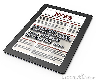 News on tablet computer