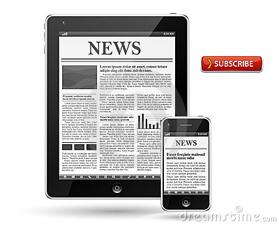 News on tablet pc or mobile phone